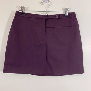 NWT Express Stretch Purple Mini Skirt sz 3/4